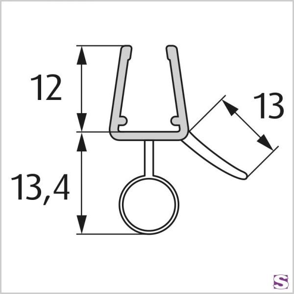 Wasserabweisprofil gebogen DL-39
