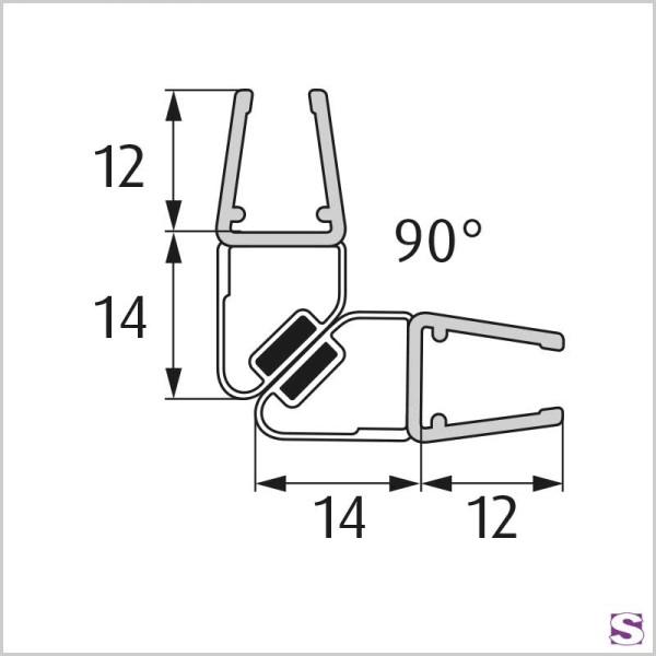 Magnetisches Türdichtprofil DL-28-29