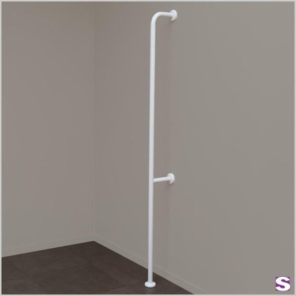Bodyguard Vertikaler Handlauf mit Wand-/Fußbodenbefestigung