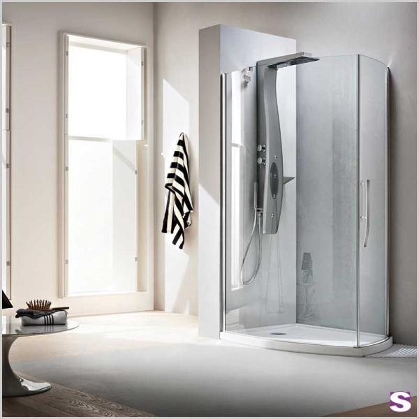 Eck-Duschkabine Cido mit Tür